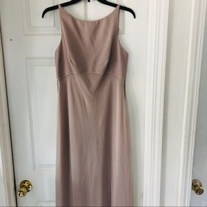 Beautiful Ann  Taylor tan floorlength dress